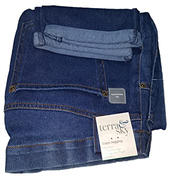 06274be065c Terra   Sky Medium Denim Plus Size Generous Fit Capri Jegging - 2X ...