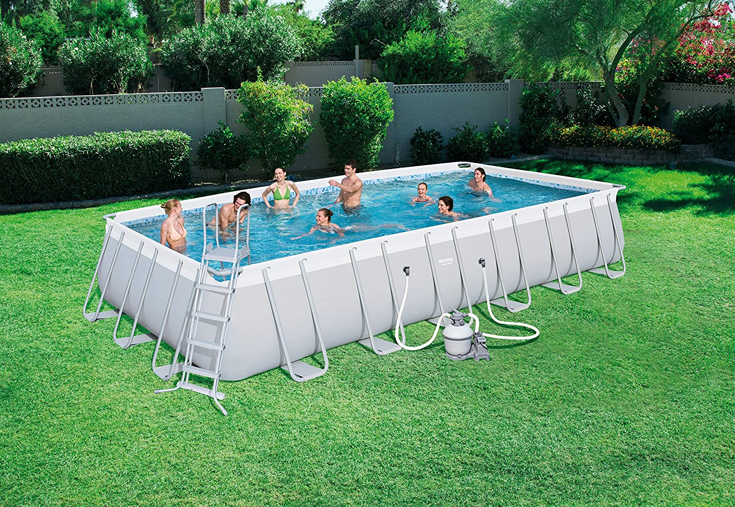 Bestway Best Way - Piscina Power Steel 732 x 366 x 132 cm + ...