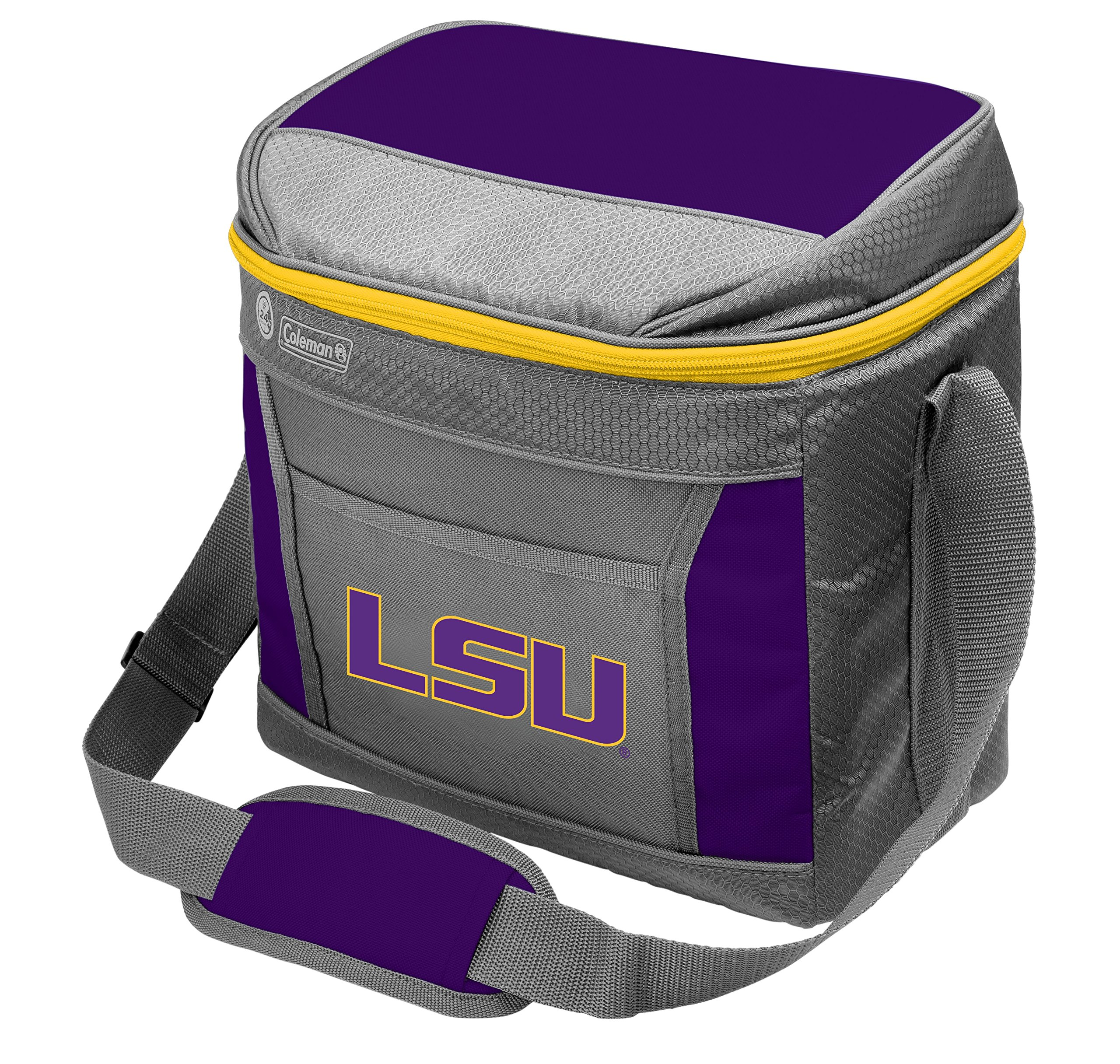 Coleman NCAA Soft-Sided Insulated Cooler Bag, 16-Can Capacity, Louisiana State Tigers