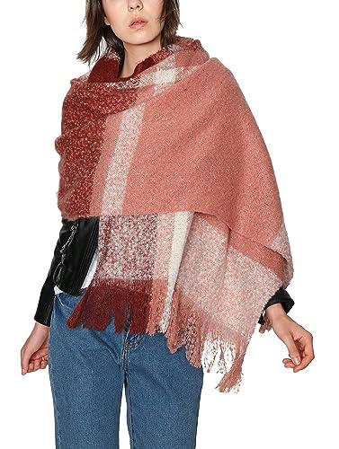 Urban GoCo Donna Plaid Grande Sciarpa Dama Caldo Tartan Wrap Scialle Stola Autunno Inverno