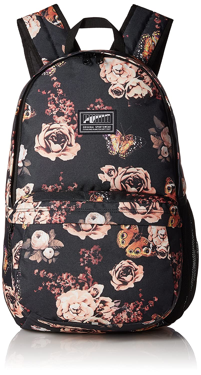 8aa9a36b7b39 Puma 22 Ltrs Black Flower Graphic Laptop Backpack (7471903)  Amazon.in  Bags