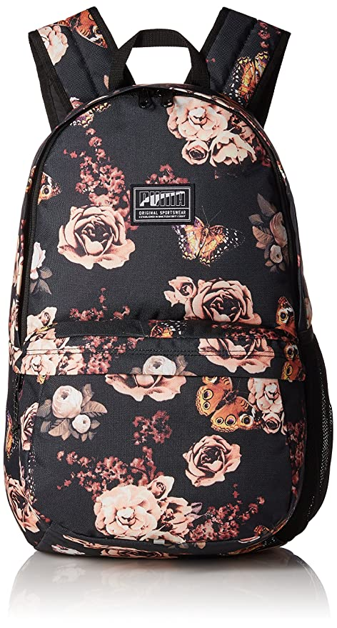 ea8e5aff32eb Puma 22 Ltrs Black Flower Graphic Laptop Backpack (7471903)  Amazon ...