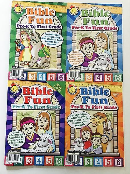 Amazoncom Set Of 4 Sunshine School Bible Fun Activities