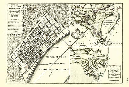 Amazon Com Old City Map New Orleans Louisiana Jefferys 1759