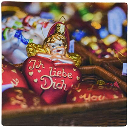 3drose german glass christmas i love you ornaments rothenberg germany mouse pad