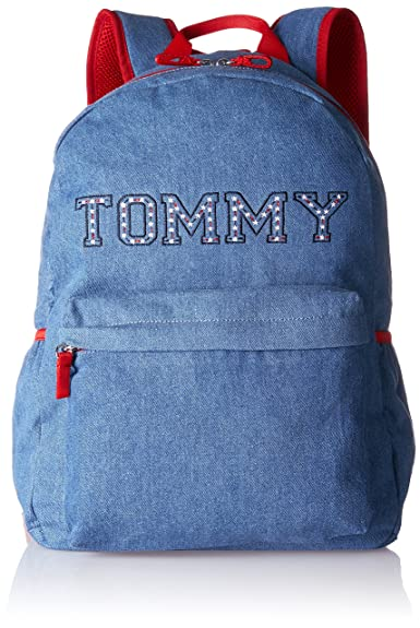 Tommy Hilfiger Kids Denim Backpack, Sacs à dos fille, Blau (Denim Stars), 12.5x40x29 cm (B x H T)