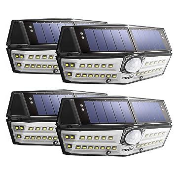 Version Innovante】4 PACK 30 LED Mpow Lampe Solaire Etanche IPX6