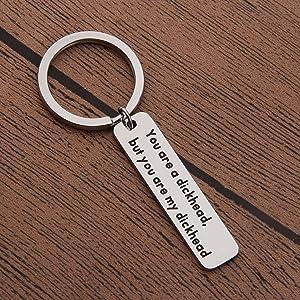 Gzrlyf Funny Man Keychain Boyfriend Keychain Dickhead Gift Mature