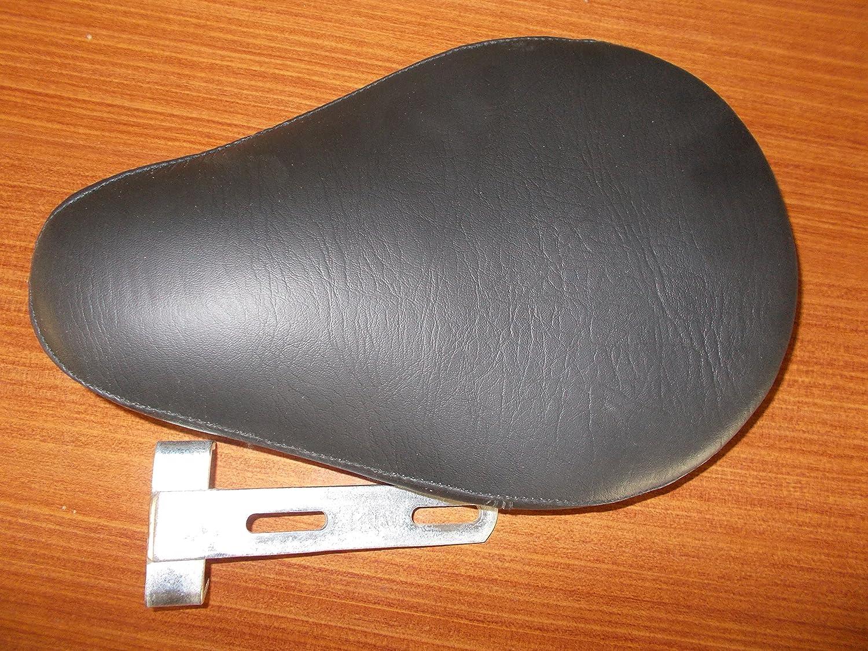 "Black Leather Solo Slim Seat Large w// 3/"" Mount for Harley Bobber Chopper Custom"