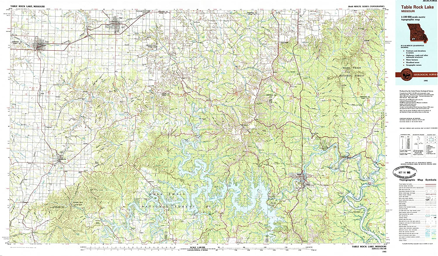 Stone County Missouri USGS Topographic Maps on CD
