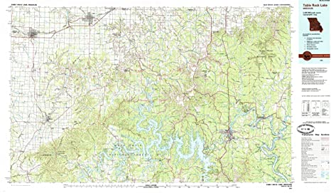 Amazon Com Yellowmaps Table Rock Lake Mo Topo Map 1 100000 Scale