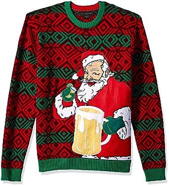 490f197709 Blizzard Bay Men s Happy Santa Beer Pocket Ugly Christmas Sweater at Amazon  Men s Clothing store
