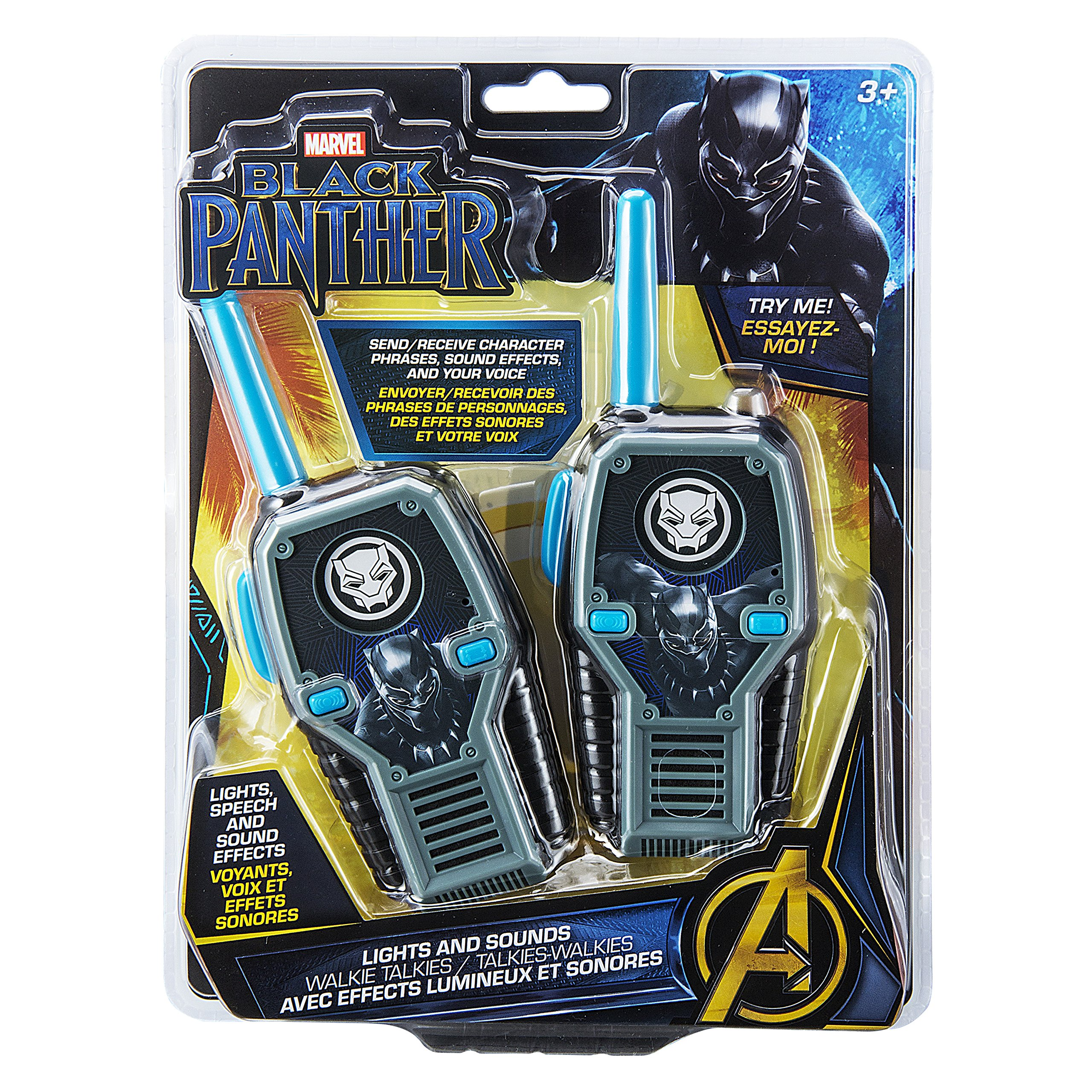eKids Black Panther FRS Walkie Talkies with Lights & Sounds Kid Friendly Easy to Use by eKids (Image #5)