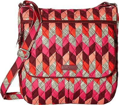 Vera Bradley Women s Double Zip Mailbag Cross Body Handbag, 11 ¼