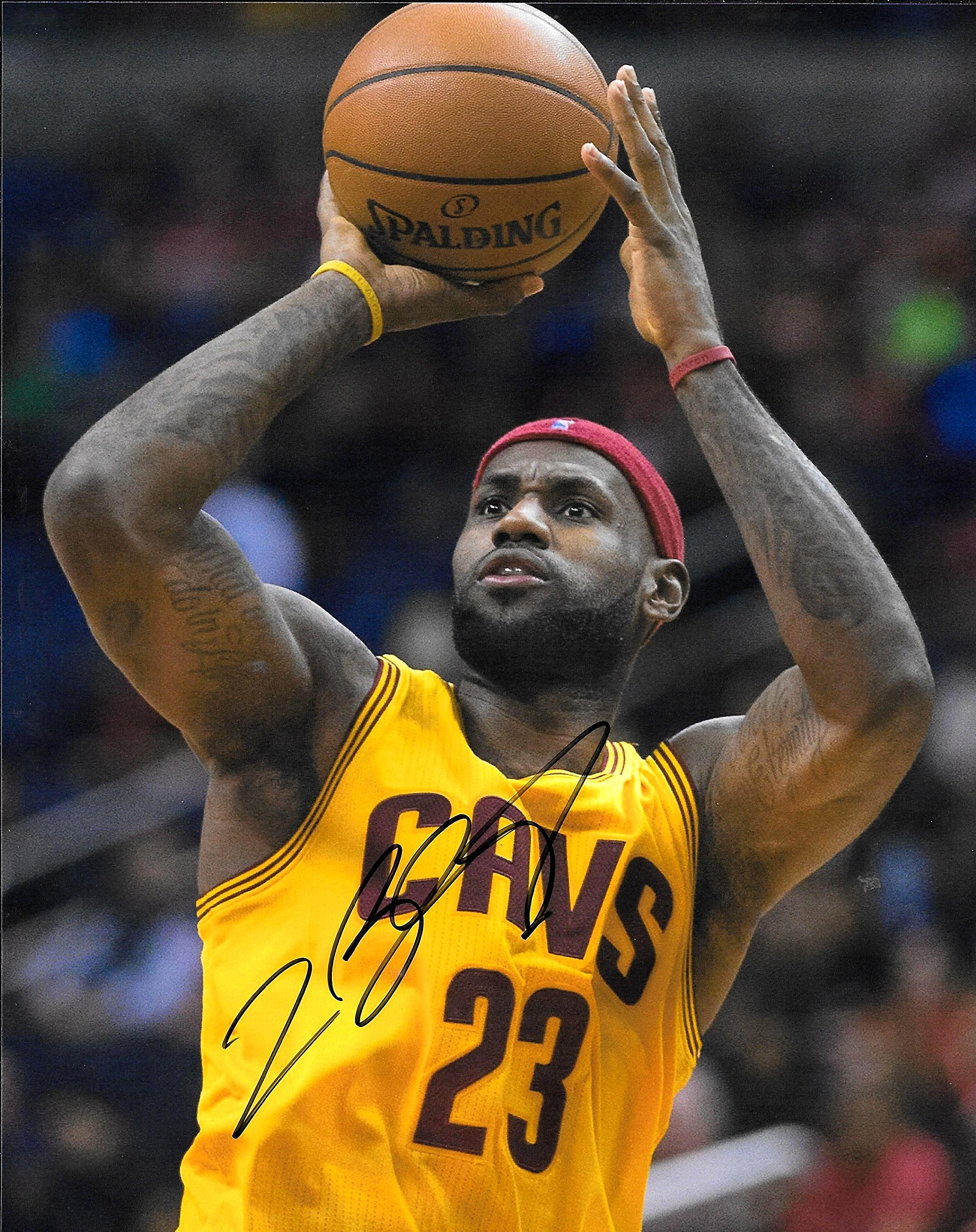 Lebron James Cleveland Cavaliers Autographed Signed 8 x 10 Photo COA NM/MT MT Condition!