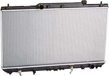 "Aluminum Radiator For 1997-2001 Toyota Camry 2.2L L4 4-cylinder Only 12/"" Fans"