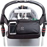 Stroller Organizer with Removable Shoulder Strap, Universal Fit, Premium Quality Diaper Bag & Stroller Cup Holder, Perfect Baby Shower Gift