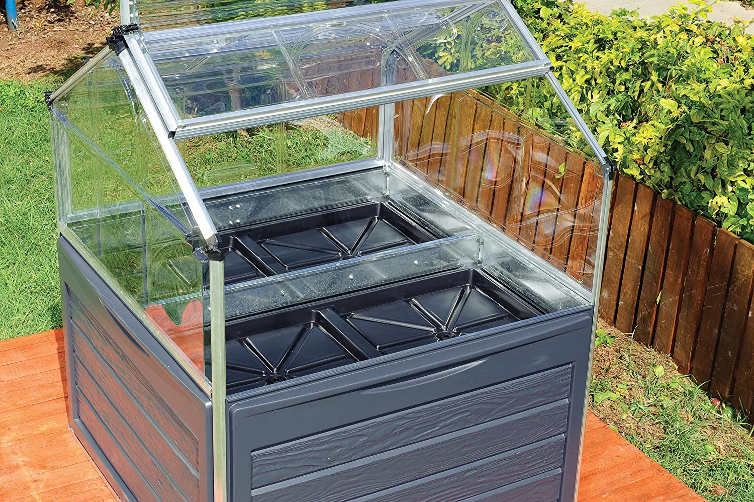Amazon.com : Palram Plant Inn Raised Garden Bed : Greenhouse Cold Frames :  Garden U0026 Outdoor