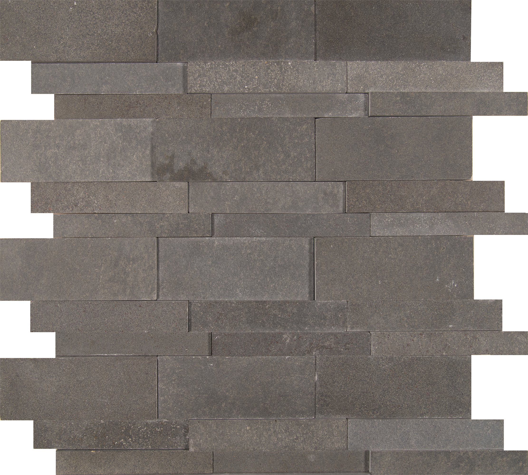 M S International Neptune 3D 12 In. X 10 mm Honed Basalt Mesh-Mounted Mosaic Wall Tile, (10 sq. ft., 10 pieces per case)