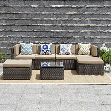 Amazon Com Wisteria Lane 7 Piece Outdoor Furniture Sets Patio