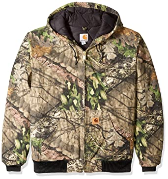 dde5206eb5316 Amazon.com: Carhartt Men's Big & Tall Quilted Flannel Lined Camo Active  Jac: Clothing