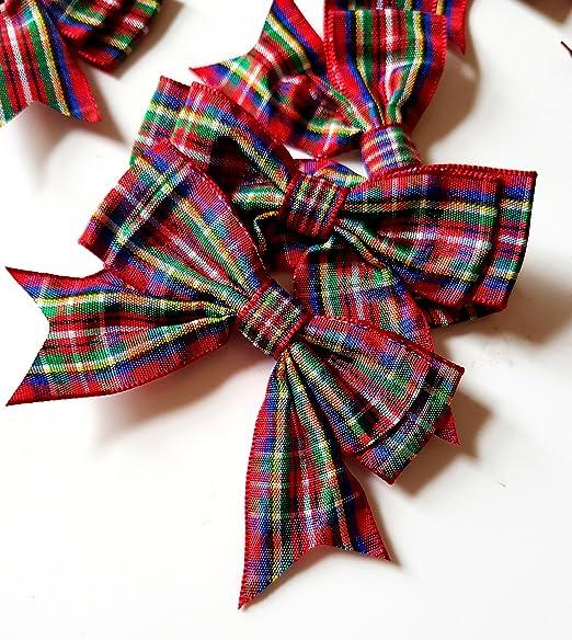 Ribbon Queen - Aros dobles de tartán de 7,6 cm de ancho Árboles de ...