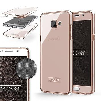 Urcover® Funda Compatible con Samsung Galaxy A5 (2016) Carcasa Protectora 360 Grados Silicona Gel en Semi-Transparente Full Body Protección Completa ...