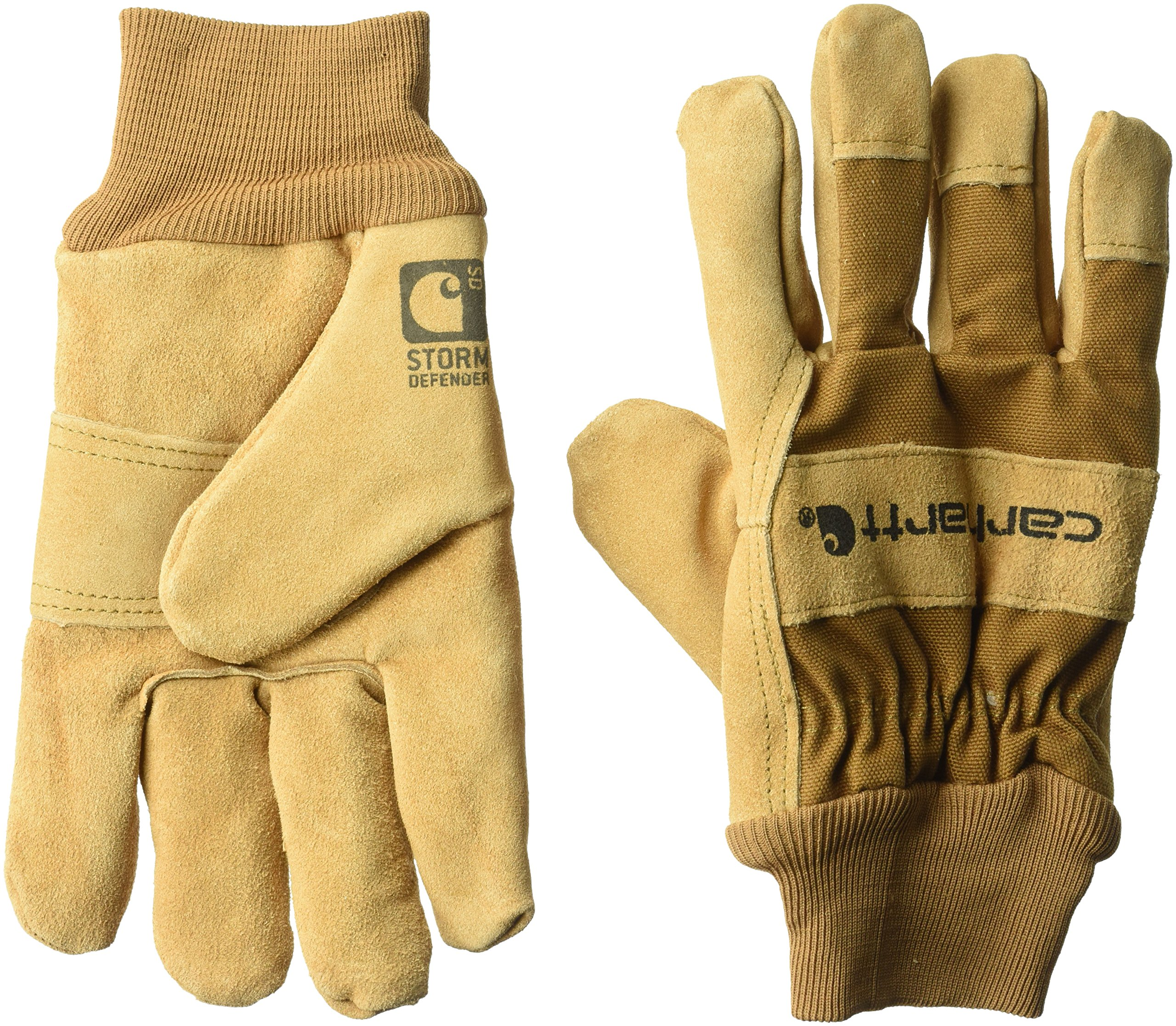 Carhartt Men's Wb Suede Leather Waterproof Breathable Work Glove, Brown, Small