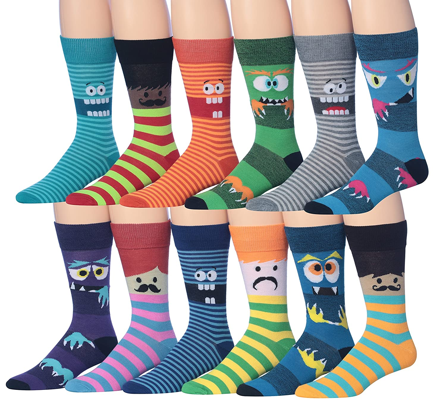 dffbd23ede14 Fits shoe 6-12 (sock size 10-13) All New Styles And Fun Colors with The  Latest 2017 Fashion Trends 12-Pairs Value pack featuring assortments of  funny face ...