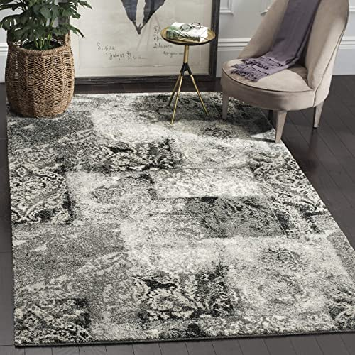 Safavieh Retro Collection RET2137-1180 Modern Abstract Cream and Grey Area Rug 5 x 8