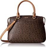 Calvin Klein Key Item Raelynn Monogram Top Zip Satchel