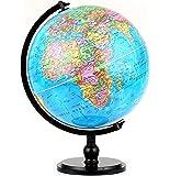 "Illuminated Blue Ocean Globe (12.5""/32 cm diameter)-Educational Globe for Kids & Teachers, Over 5,000 Place Names, Energy-Saving LED, Weighted Base"