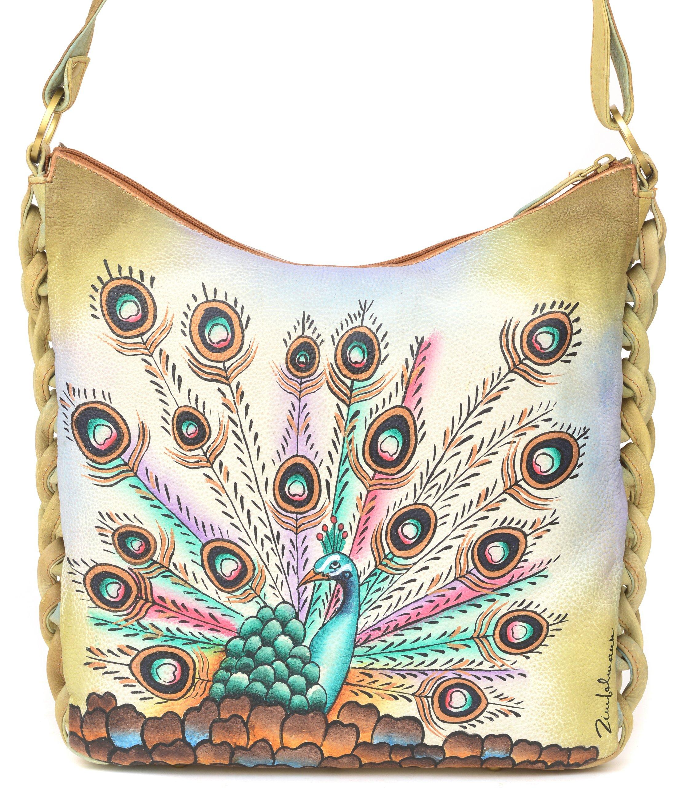 ZIMBELMANN BELLA Genuine Nappa Leather Hand-painted Hobo Shoulder Bag by Zimbelmann