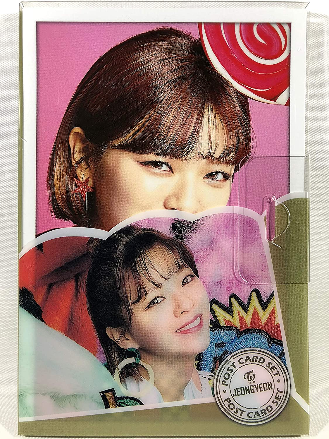 JEONGYEON (Jong  TWICE (Twice))   Purakesu postcard 16 piece set  Post Card 16sheets (is included in a Plastic Case) (TradePlace KPOP goods   made in Korea)