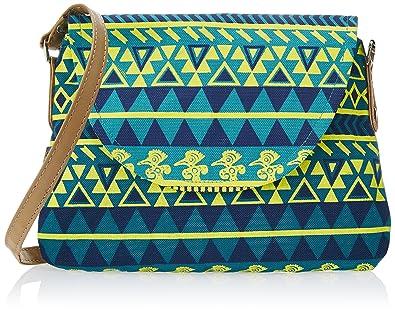 5bb170a78ff1 Kanvas Katha Women's Sling Bag (Aqua) (KKPUS002AQ)