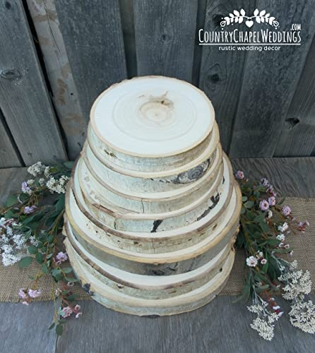 Amazon Aspen Tree Slice Choose Your Diameter Rustic Wedding
