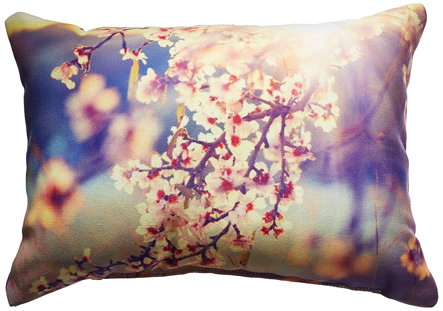 ArtVerse Justin Duane 14 x 10 Spun Polyester Butterfly and Rose Pillow