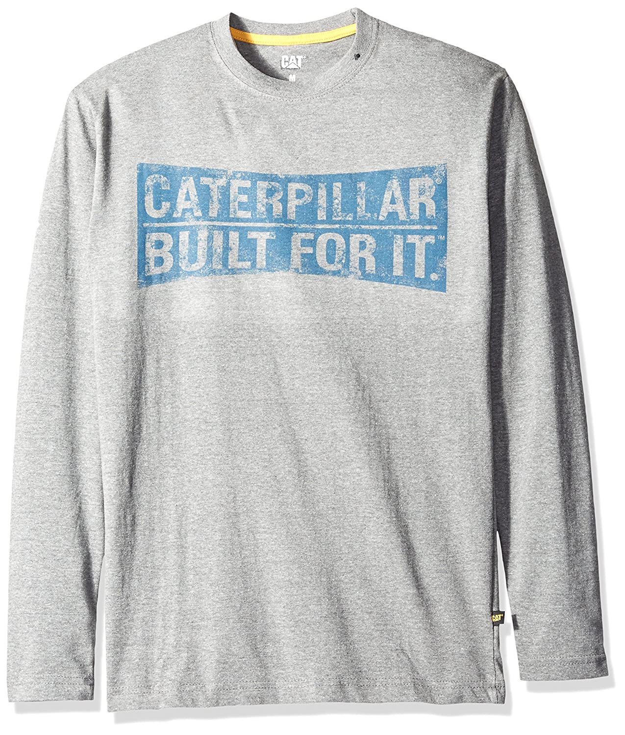 CAT Workwear Mens Curved Banner 100% Cotton Long Sleeve T-Shirt 1510264