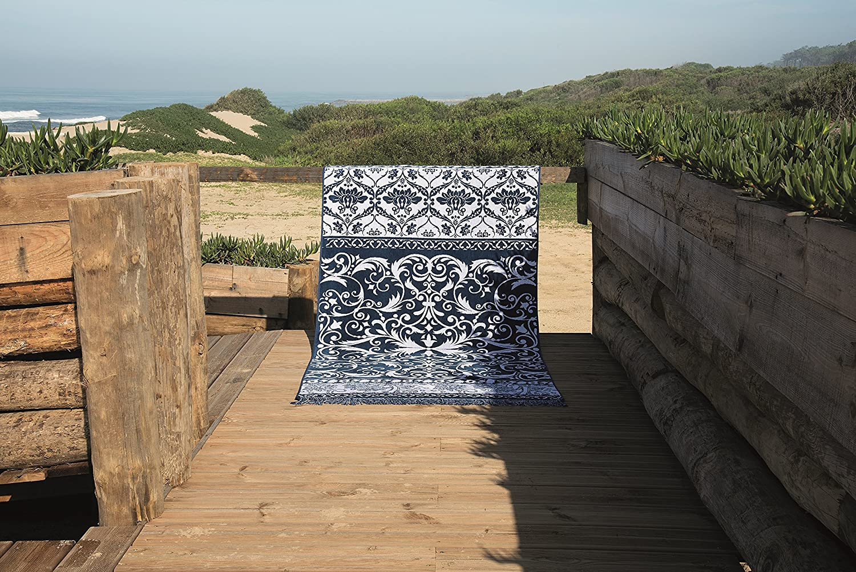 Badelaken 100/% Baumwolle Lashuma Strandtuch Marocco Strandlaken Blau Ornamenten 100 x 180 cm Velours Badetuch