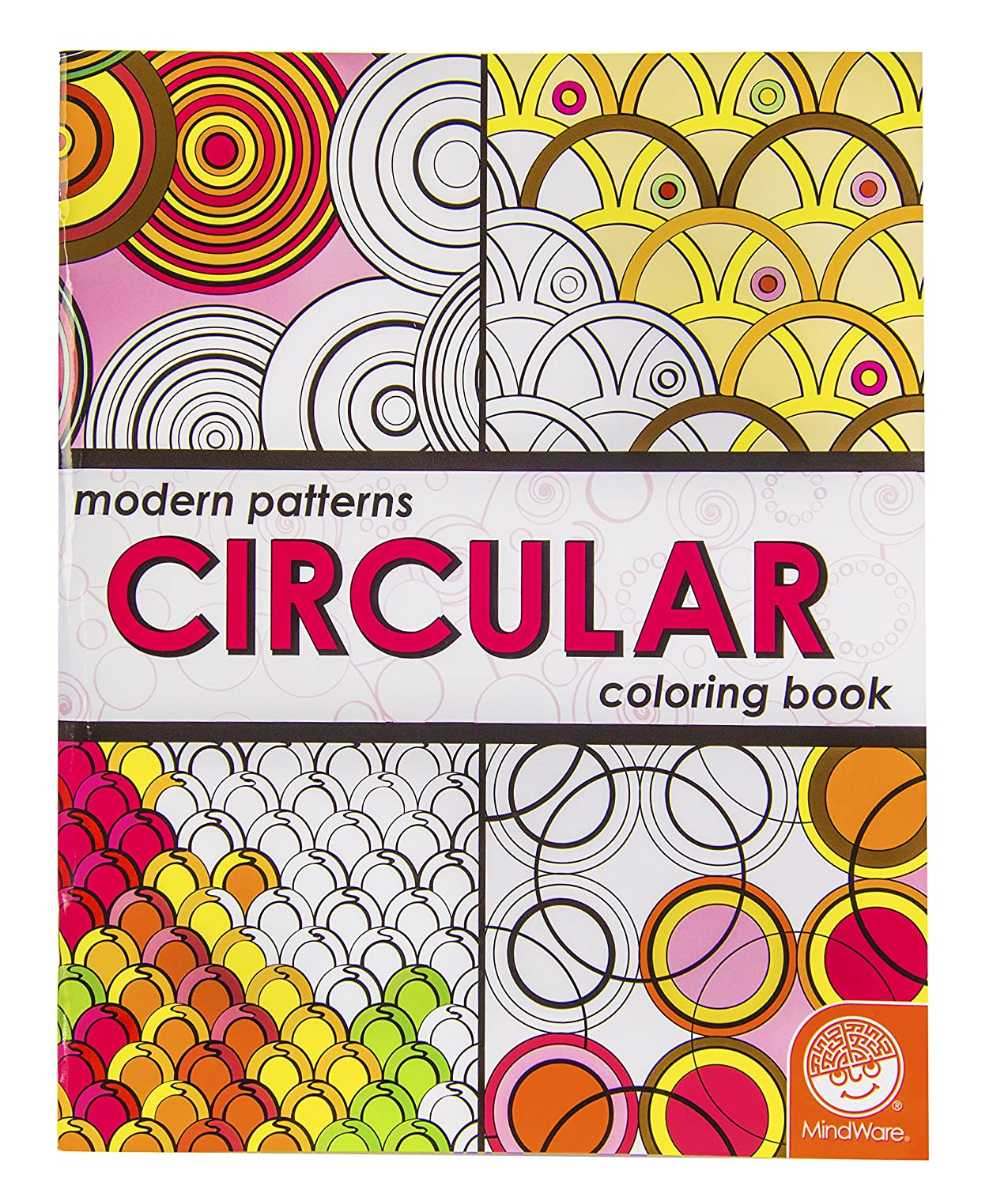 Amazoncom Modern Patterns Circular Coloring Book Toys Games