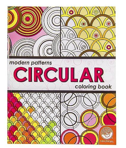 Amazon.com: MindWare Modern Patterns Circular Coloring Book: Toys ...