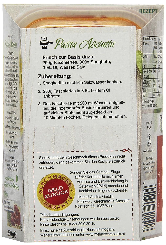 Inzersdorfer Meine Beste Basis Pasta Asciutta 4er Pack 4 X 250 G