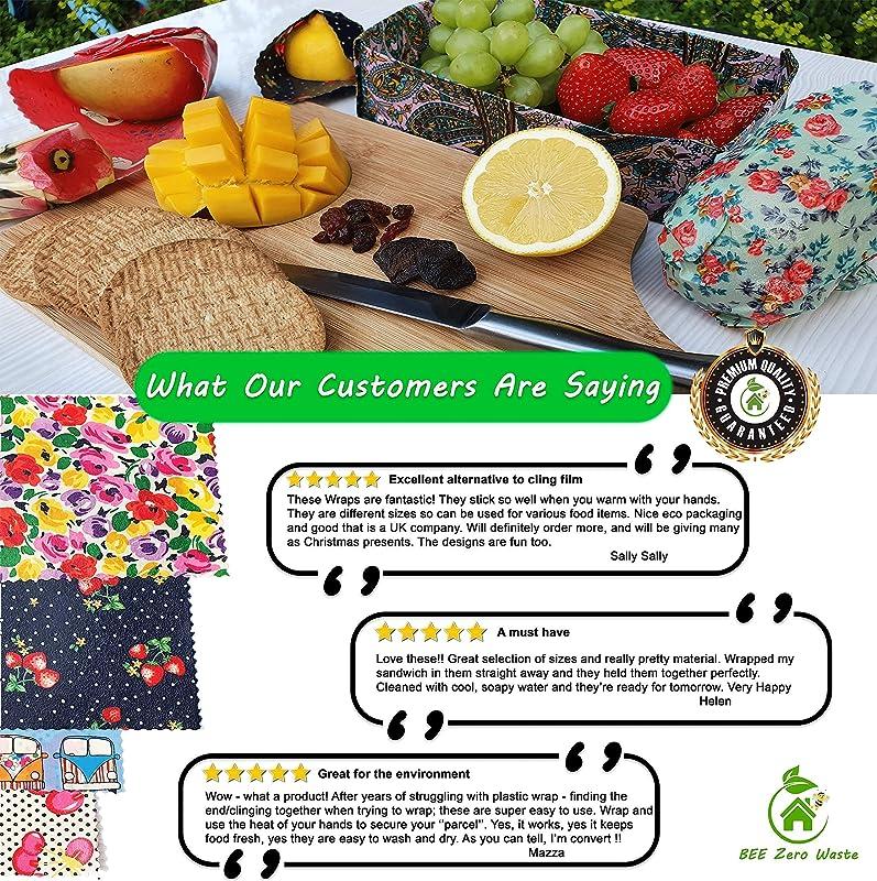 Bio abeilles Toile Cirée Lunchbag Coccinelle Zero Waste Poison zéro déchets Cire foulards Wax