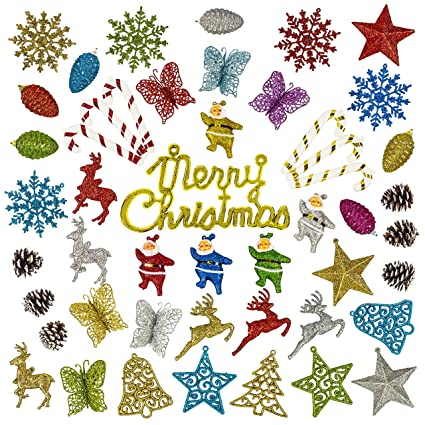 christmas tree ornaments 50 pcs christmas ornaments set christmas home decorations x - Amazon Christmas Home Decor
