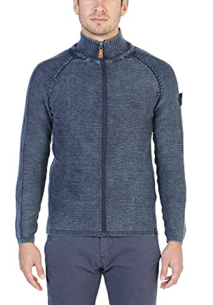 Zip Jacket Vintage, Gilet Homme, Bleu (Total Eclipse 3393), MediumTimezone