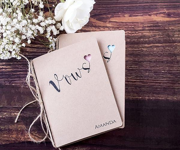 Amazon custom wedding vow books rustic wedding vow booklets custom wedding vow books rustic wedding vow booklets her vows his vows junglespirit Images