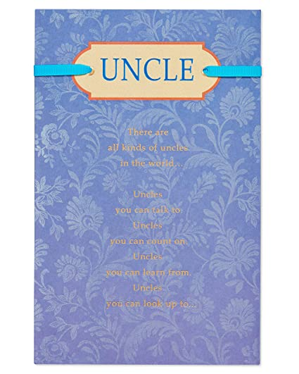 Amazon American Greetings Special Birthday Card For Uncle With