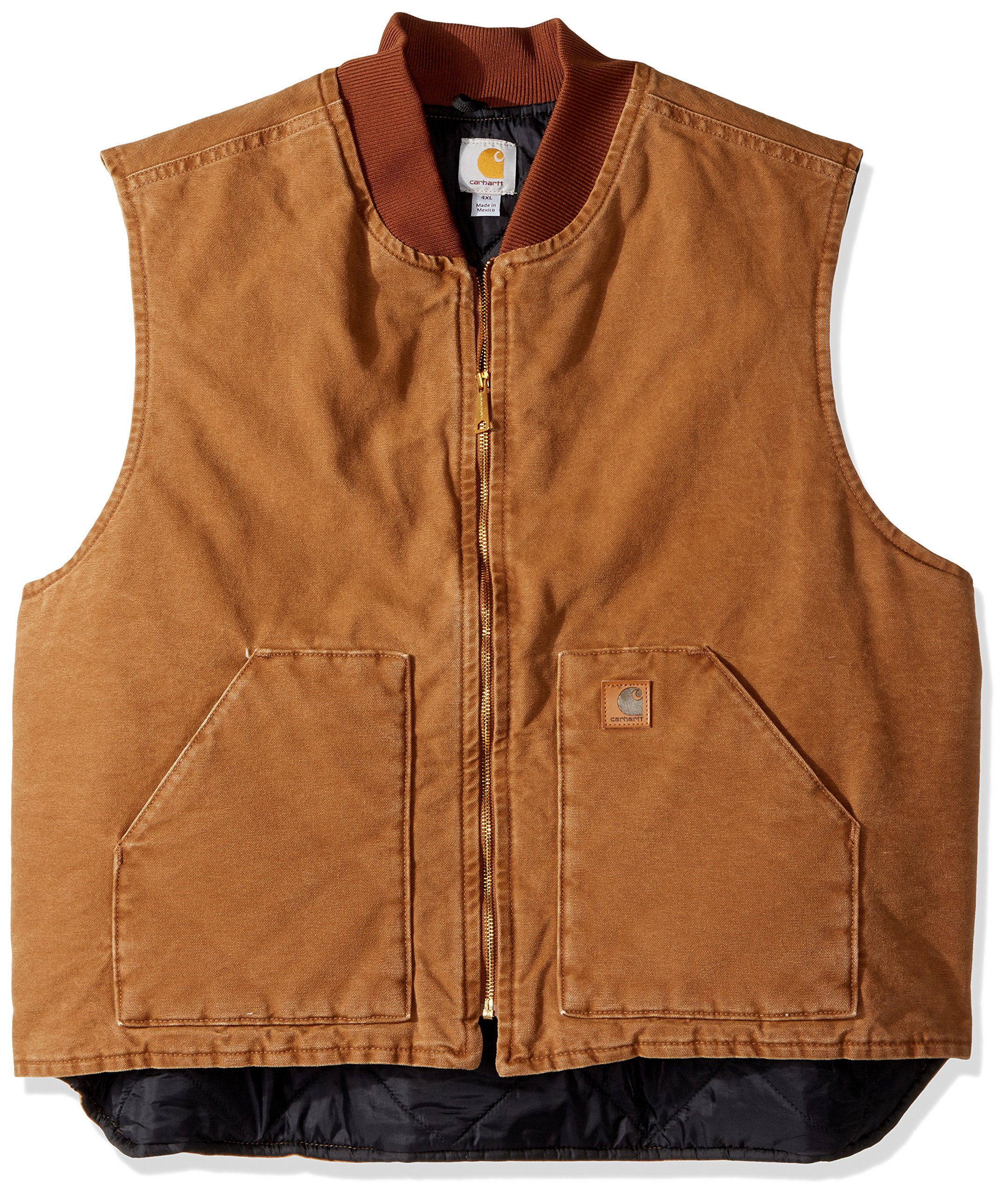 Carhartt Men's Big & Tall Sandstone Vest Arctic Quilt Lined, Brown,XX-Large Tall