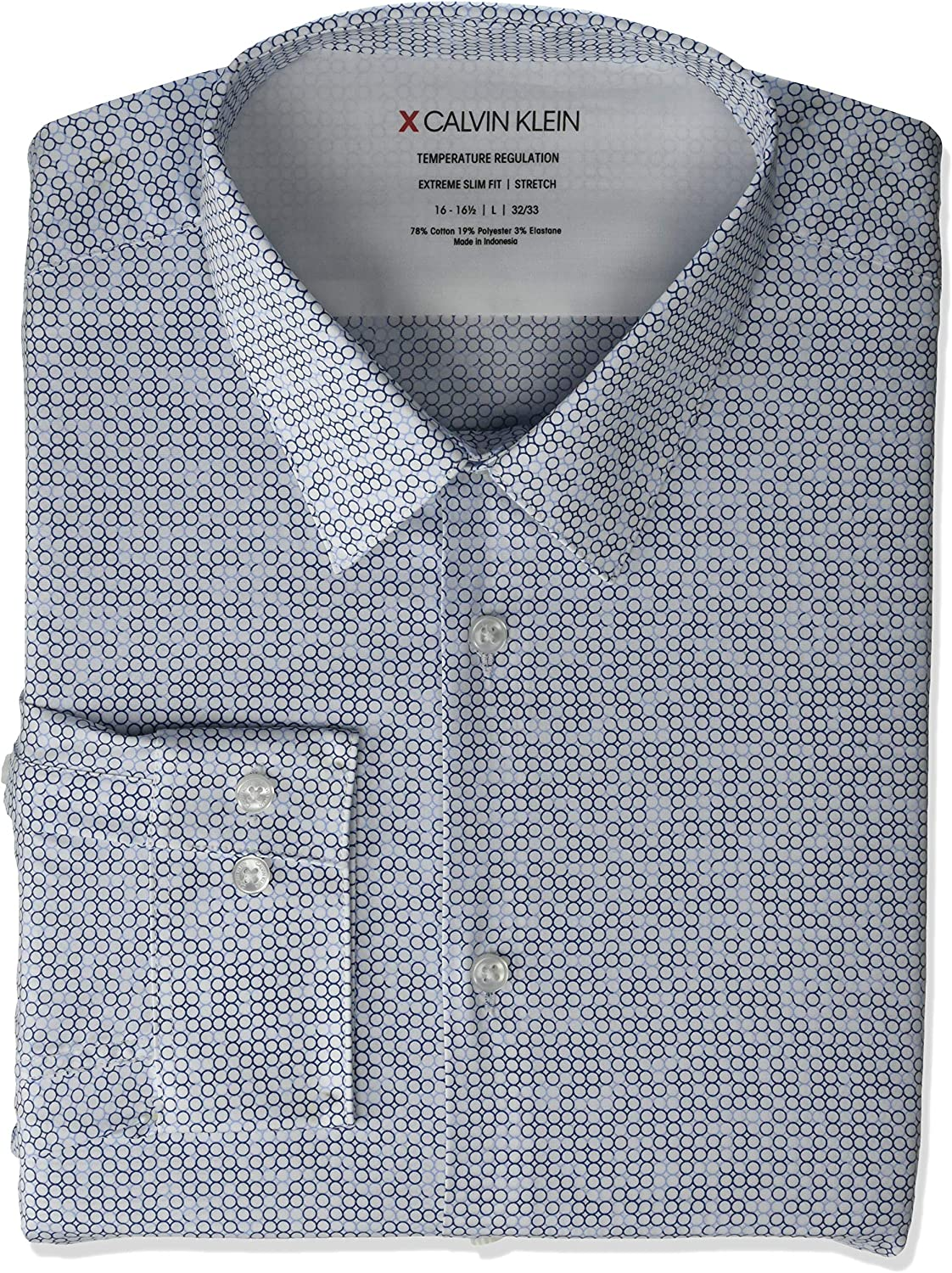 Calvin Klein Men's Thermal Stretch Xtreme Slim Fit Print Dress Shirt