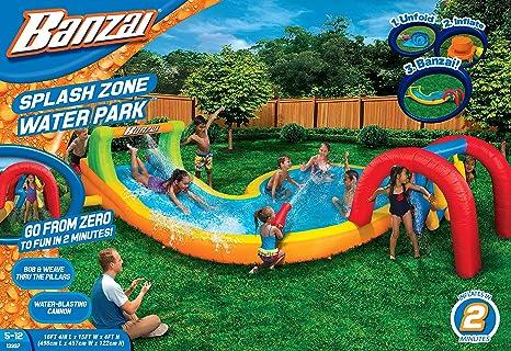 Banzai Splash – zona parque de agua (al aire libre Patio verano primavera Aqua Splash